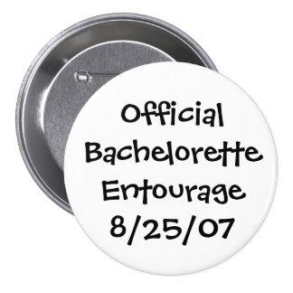 Official Bachelorette Entourage 3 Inch Round Button