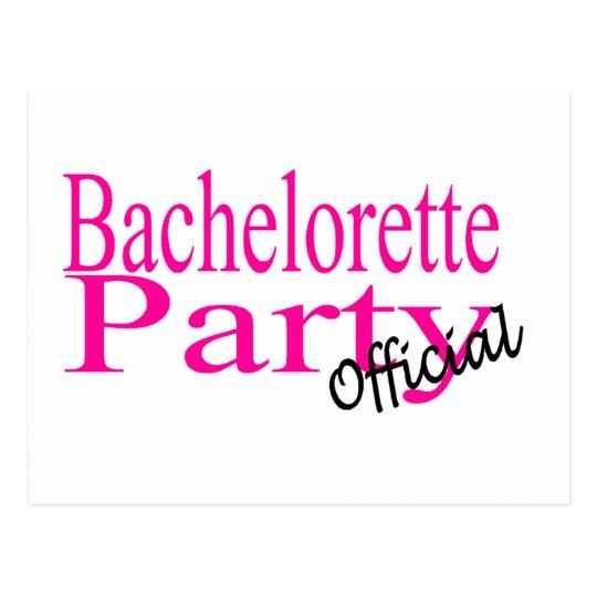 Official Bachelorette Party Postcard