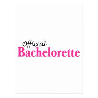 Official Bachelorette (Pink) Postcard