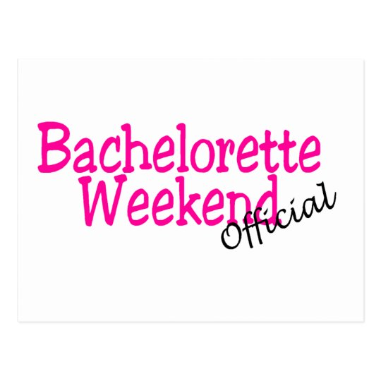 Official Bachelorette Weekend Postcard