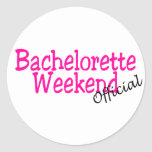 Official Bachelorette Weekend Classic Round Sticker