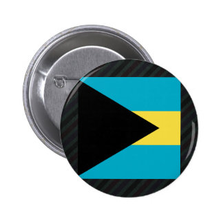 Official Bahamas Flag on stripes 2 Inch Round Button