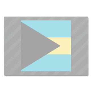 Official Bahamas Flag on stripes Table Card