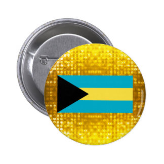 Official Bahamian Flag 2 Inch Round Button