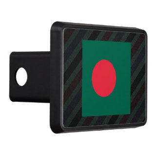 Official Bangladesh Flag on stripes Hitch Cover