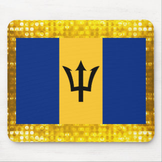 Official Barbadian Flag Mouse Pad
