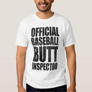 Official Baseball Butt Inspector T-shirt