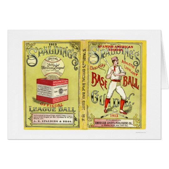 Official Baseball Guide 1913 Card