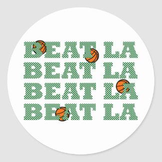 OFFICIAL BEAT LA Mesh-Look BASKETBALL GEAR Classic Round Sticker