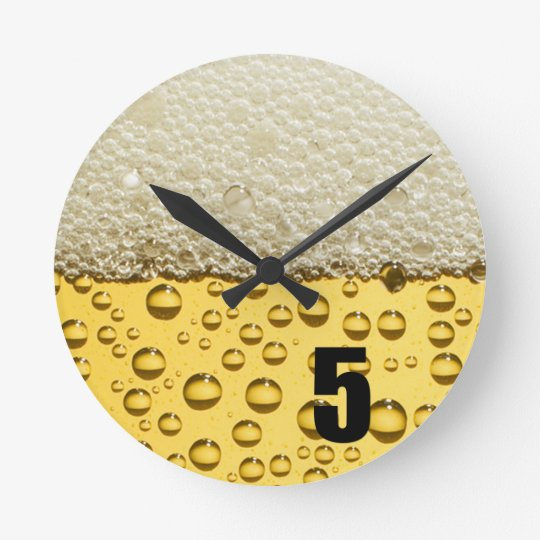 Official Beer Round Clock