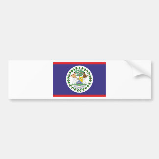 Official belize flag car bumper sticker