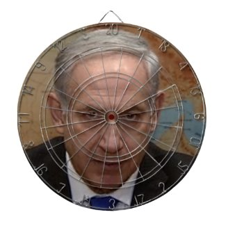official benjamin netanyahu dartboard