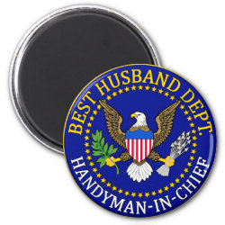 Round Magnet with Official Husband Seal design