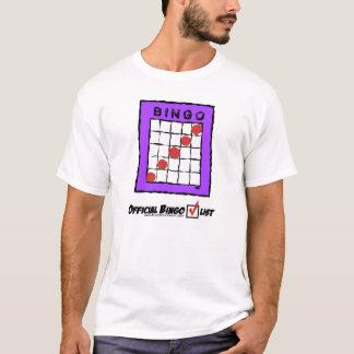 Official Bingo Checklist t-shirt! T-Shirt