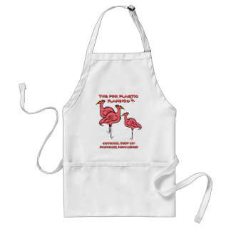 OFFICIAL BIRD OF MADISON, WIS PINK FLAMINGO APRON! ADULT APRON