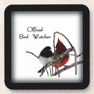 Official Bird Watcher 2 Framed Square Coasters