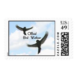 Official Bird Watcher Cloudy Sky Stamp