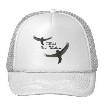 Official Bird Watcher Cloudy Sky Trucker Hat