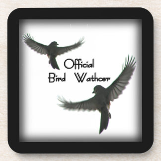 Official Bird Watcher Framed Square Coasters