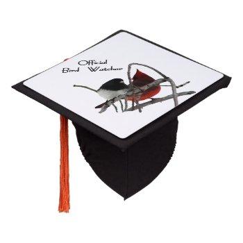 Official Bird Watcher Graduation Cap Topper