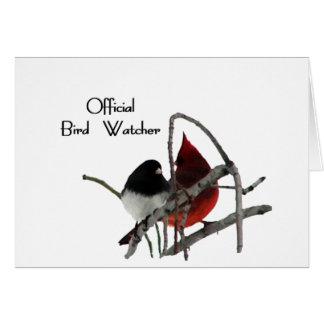 Official Bird Watcher Greeting Cards