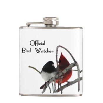 Official Bird Watcher Hip Flask