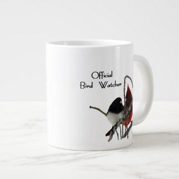 Official Bird Watcher Large Coffee Mug