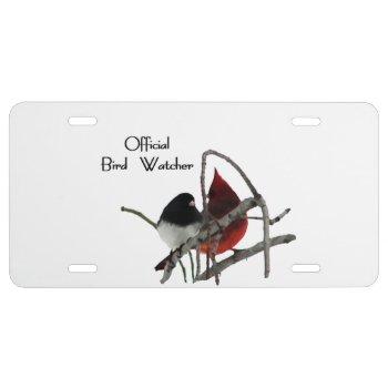 Official Bird Watcher License Plate