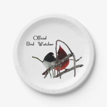 Official Bird Watcher Paper Plate
