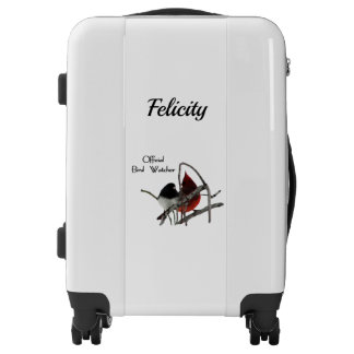 Official Bird Watcher Personalized Luggage