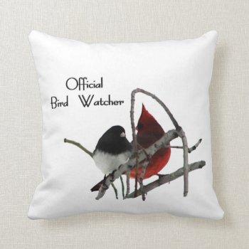 Official Bird Watcher Pillow
