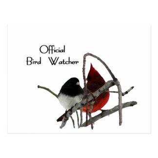 Official Bird Watcher Post Card