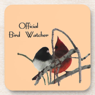 Official Bird Watcher Square Coasters