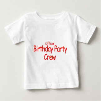 Official Birthday Party Crew Baby T-Shirt