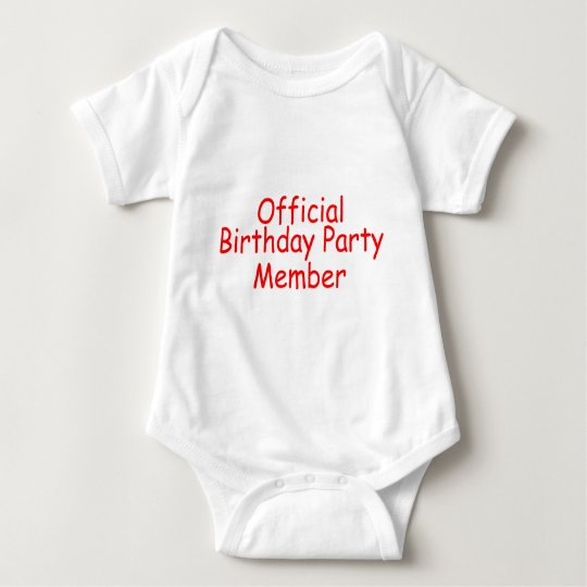 Official Birthday Party Member Baby Bodysuit