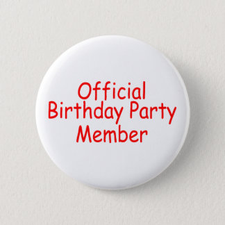 Official Birthday Party Member Button