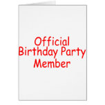Official Birthday Party Member Greeting Card