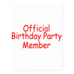 Official Birthday Party Member Postcard
