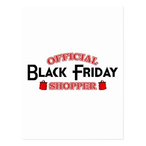Official Black Friday Shopper Postcard