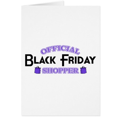 Official Black Friday Shopper (Purple) Greeting Card