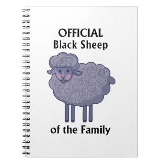 Official Black Sheep Of The Family Spiral Note Books