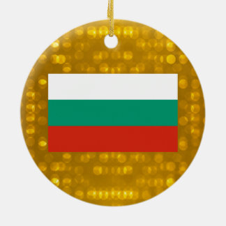 Official Bulgarian Flag Double-Sided Ceramic Round Christmas Ornament