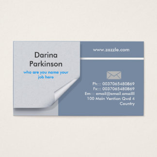 official business card design