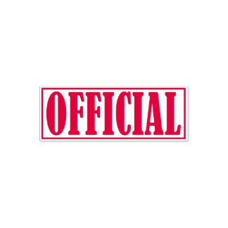 Official Business Office Framed Simple Word Self-inking Stamp