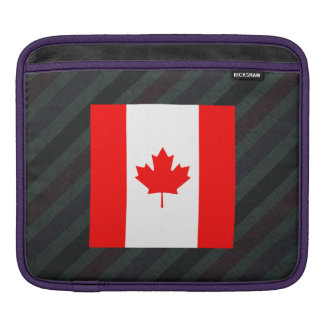 Official Canada Flag on stripes Sleeves For iPads