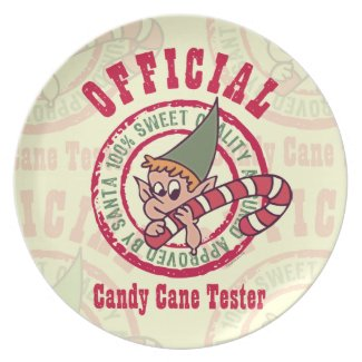 Official Candy Cane Tester Plate plate