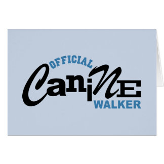 Official Canine DOG Walker Greeting Card