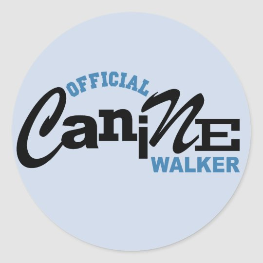 Official Canine DOG Walker Classic Round Sticker