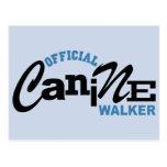 Official Canine DOG Walker Post Cards