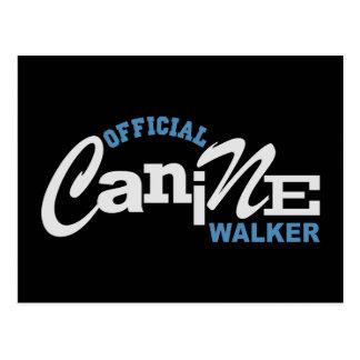 Official Canine DOG Walker Postcard